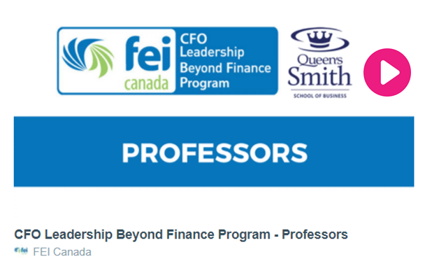 CFO Leadership Beyond Finance Program | FEI Canada
